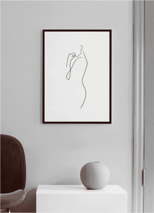 One line crtež tijela