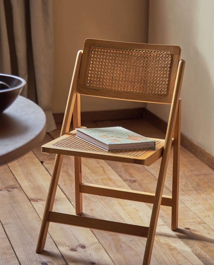 Zara Cane stolica od drva i ratana